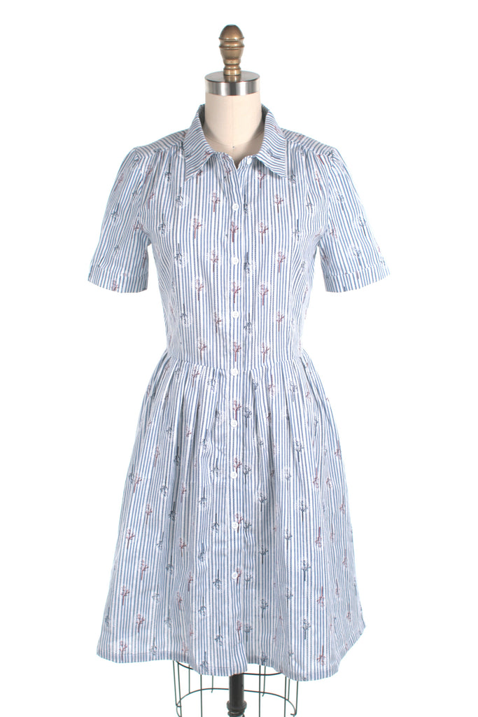 frock shop stripe tree shirtdress blue dress