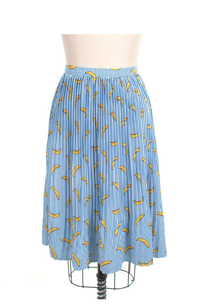 Banana Stripe Skirt in Blue