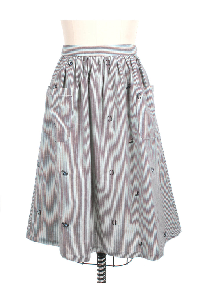 frock shop stripe eye pocket gather skirt frockshop