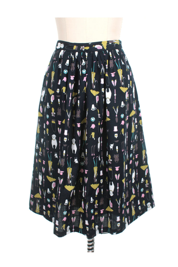 frock shop dog walking navy skirt frockshop