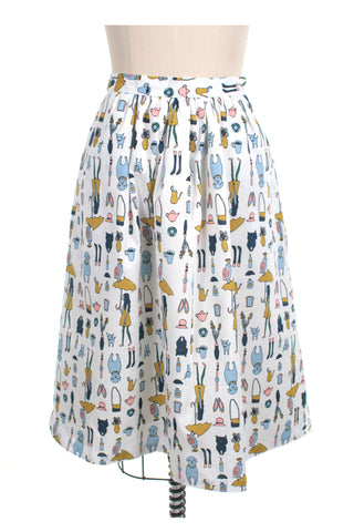 Dog Walking Skirt in White - last size S!