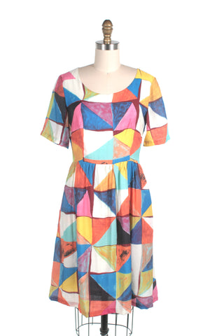 frock shop triangle dress multi frockshop