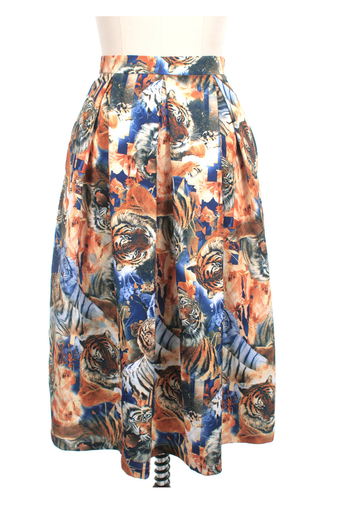 frock shop tiger midi skirt frockshop
