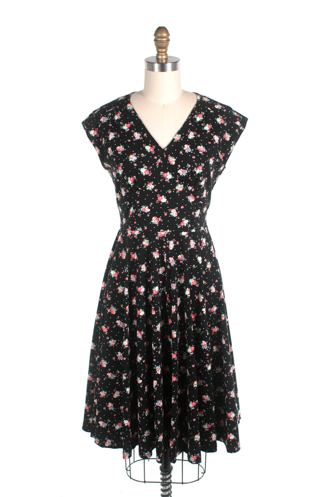 frock shop sweet jersey flower dress black frockshop