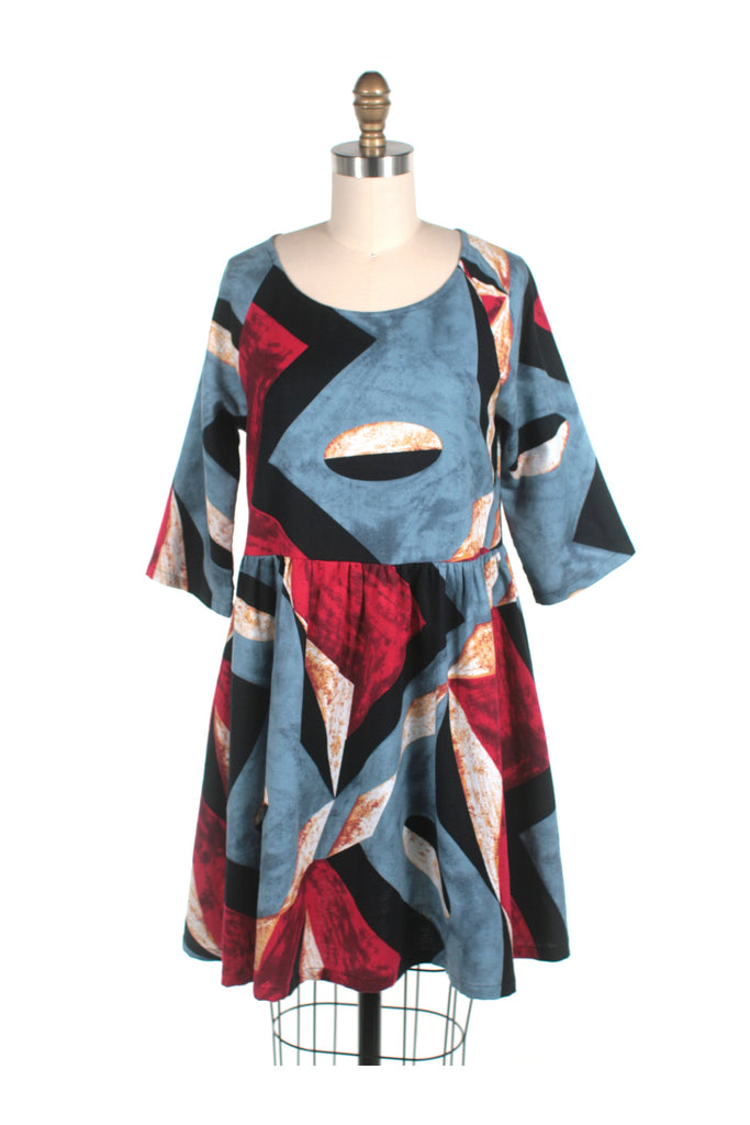frock shop abstract flannel dress frockshop
