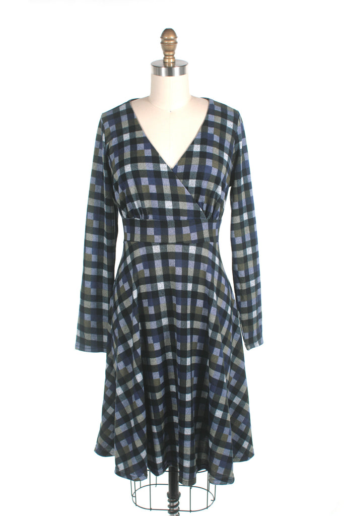 Checkers Dress in Blue - last size S!