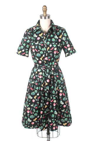 frock shop veggie shirtdress vegetable black dress frockshop