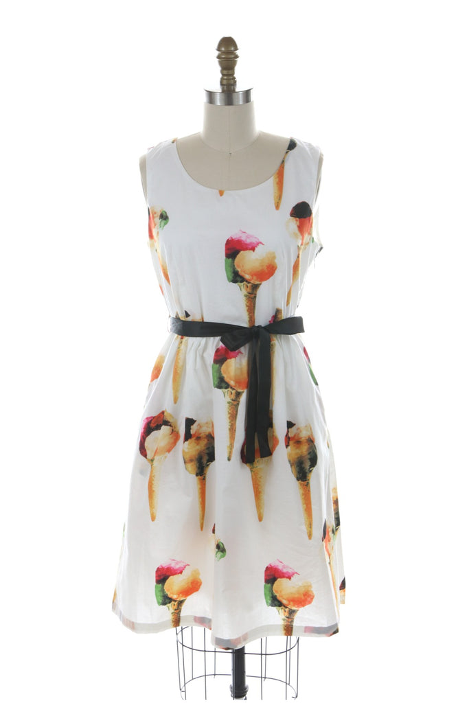 Ice Cream Cone Dress in Ivory