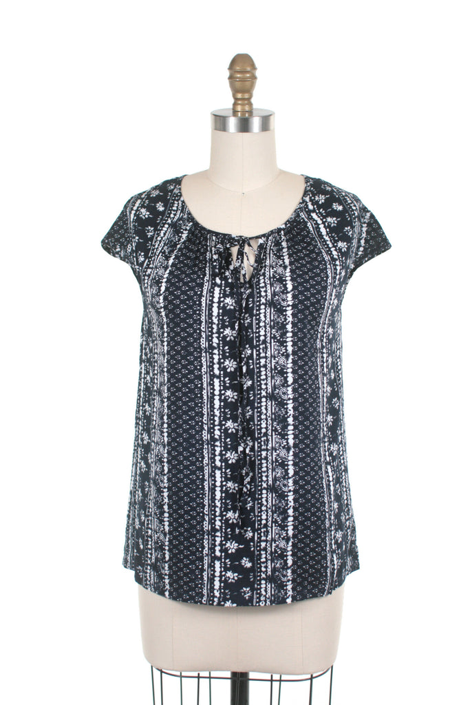 frock shop batik indigo blouse top frockshop