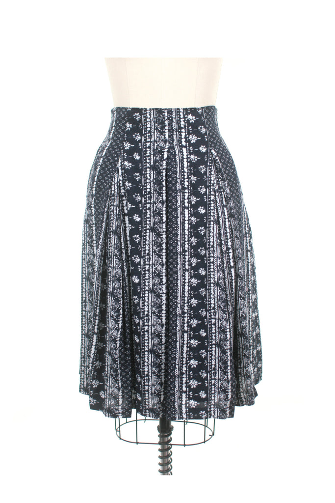 Batik Skirt in Indigo
