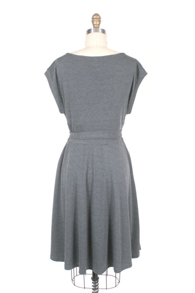 Cowl Jersey Dress in Heather