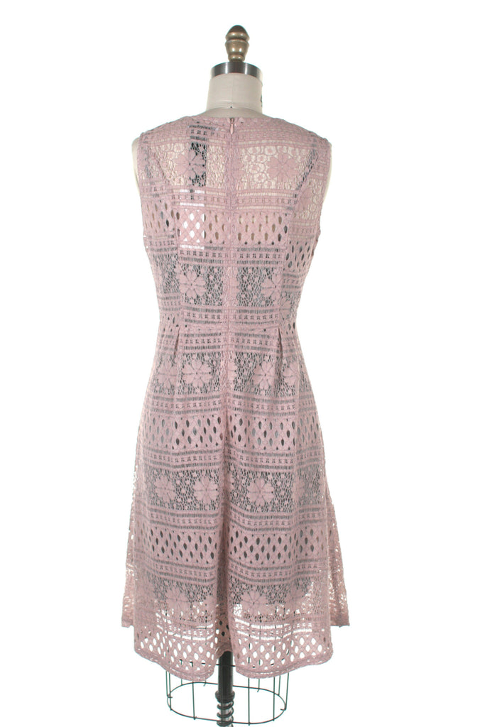 Lace Slip Dress in Pink