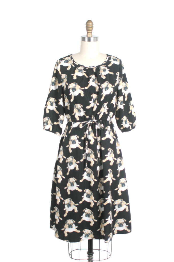 pug dog print frock shop dress