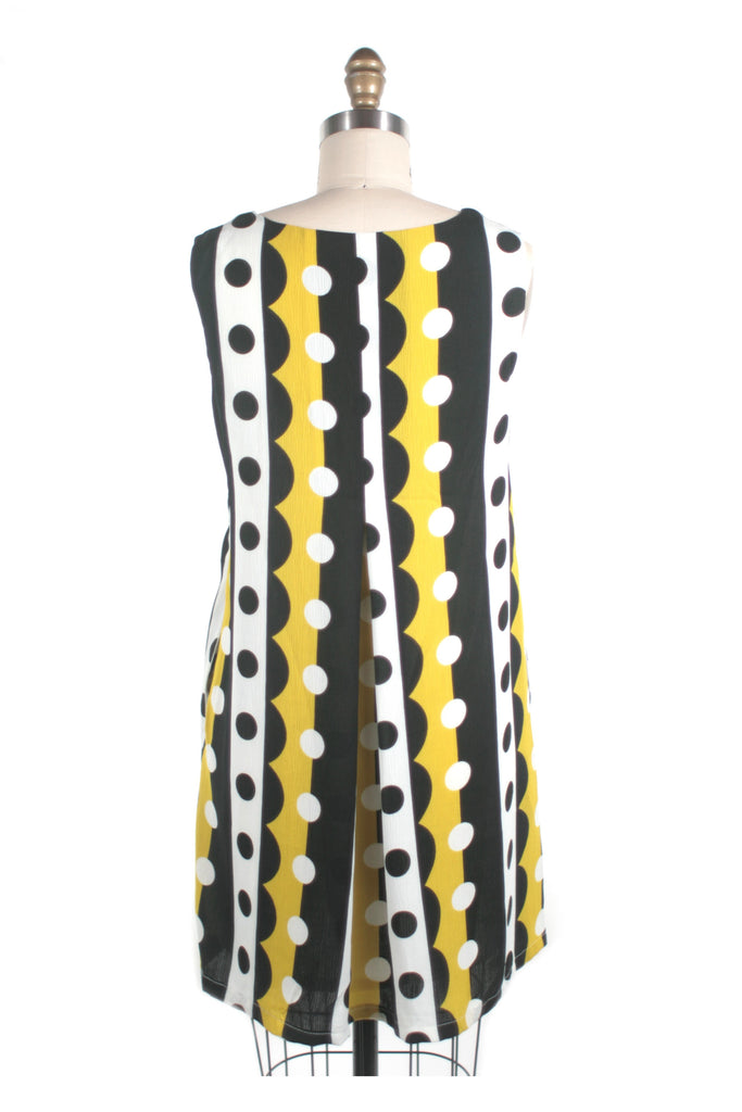 Pop Print Swing Dress in Yellow
