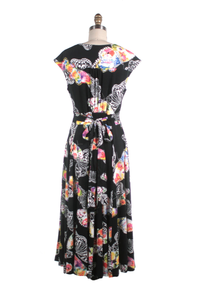 Butterfly Jersey Dress in Black - last size L!