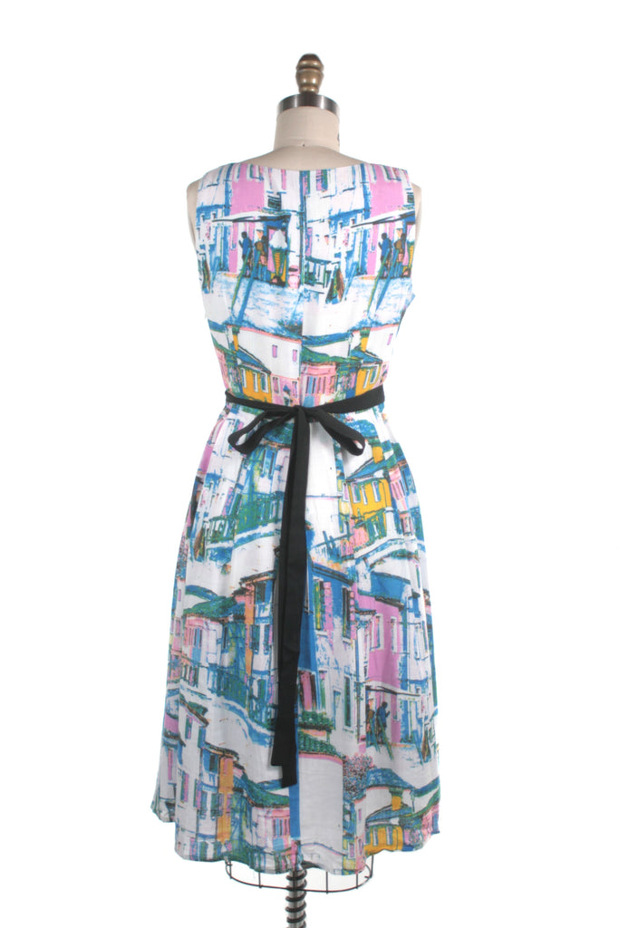 Houses Dress in White Multi - last size XS!