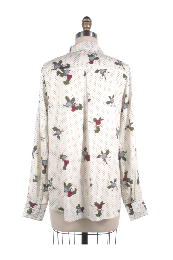 Flower Dot Blouse in Ivory