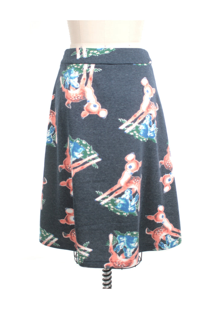 Deer Skirt in Blue Multi