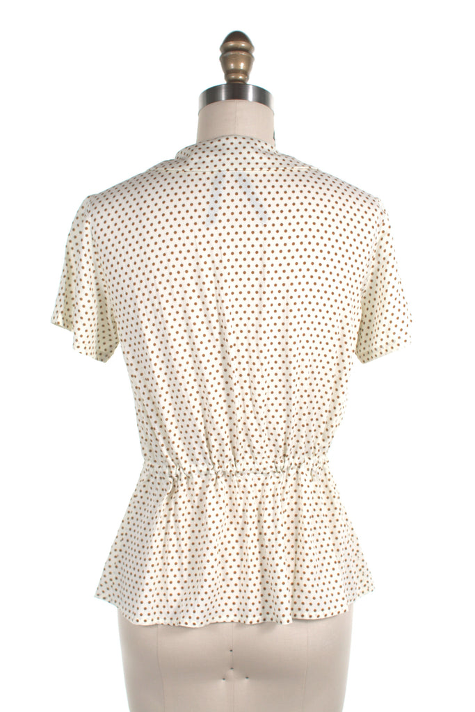 Polka Dot Blouse in Cream - last size L!