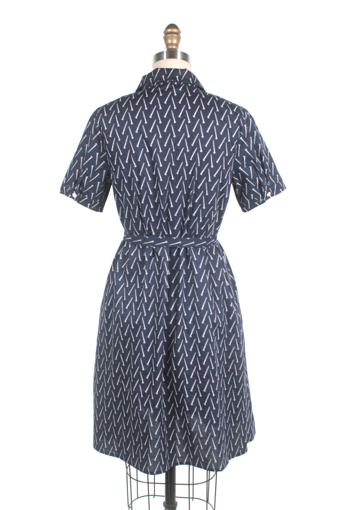 Screw print shirtdress in navy - last one S!