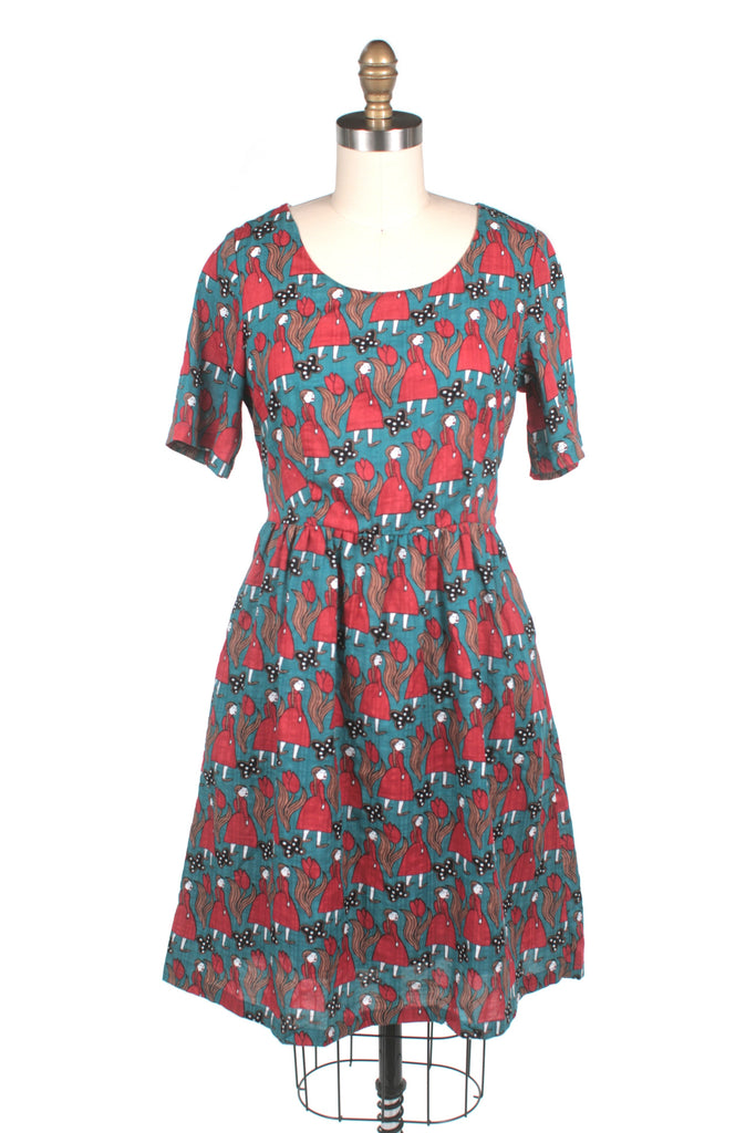 frock shop doll girl print dress frockshop