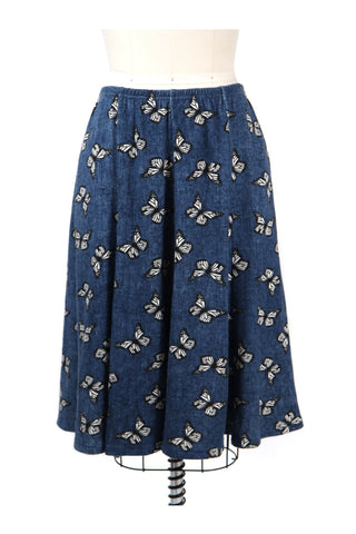 Butterfly Knit Skirt in Blue - last size S!