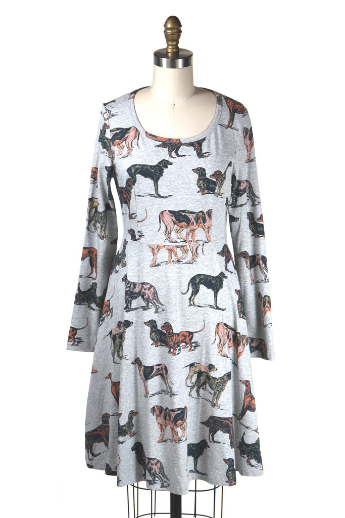 frockshop frock shop grey dog jersey dress