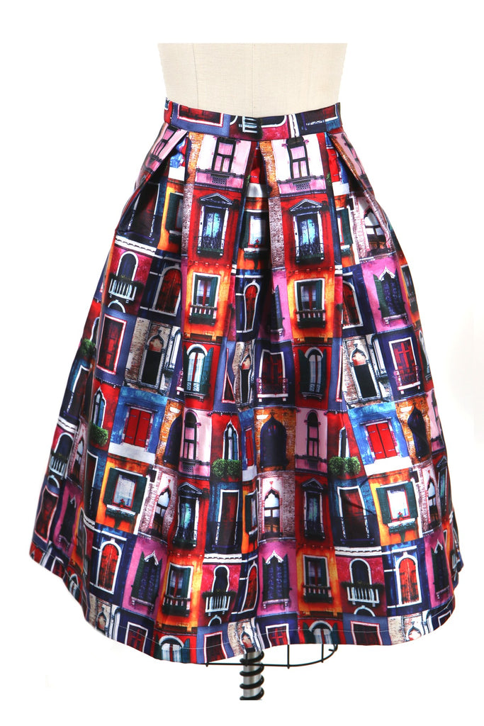 frock shop window print skirt