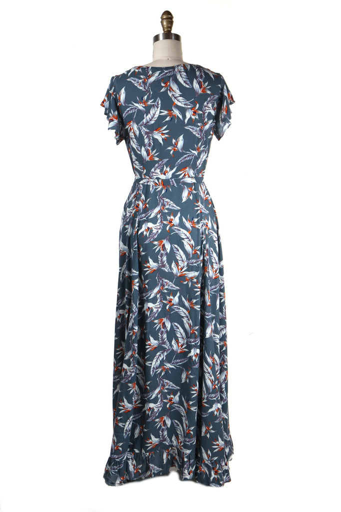 Paradise Maxi Dress in Grey - last size s!