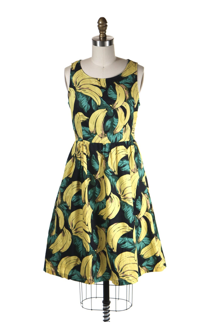 Banana Dress in Black - last size S!