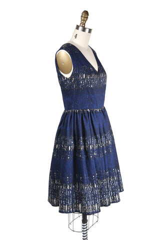 Burton V-neck Dress in Blue - last size S!
