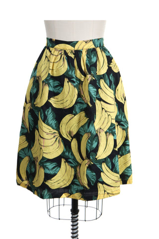 Banana Gather Skirt in Black - last size S!