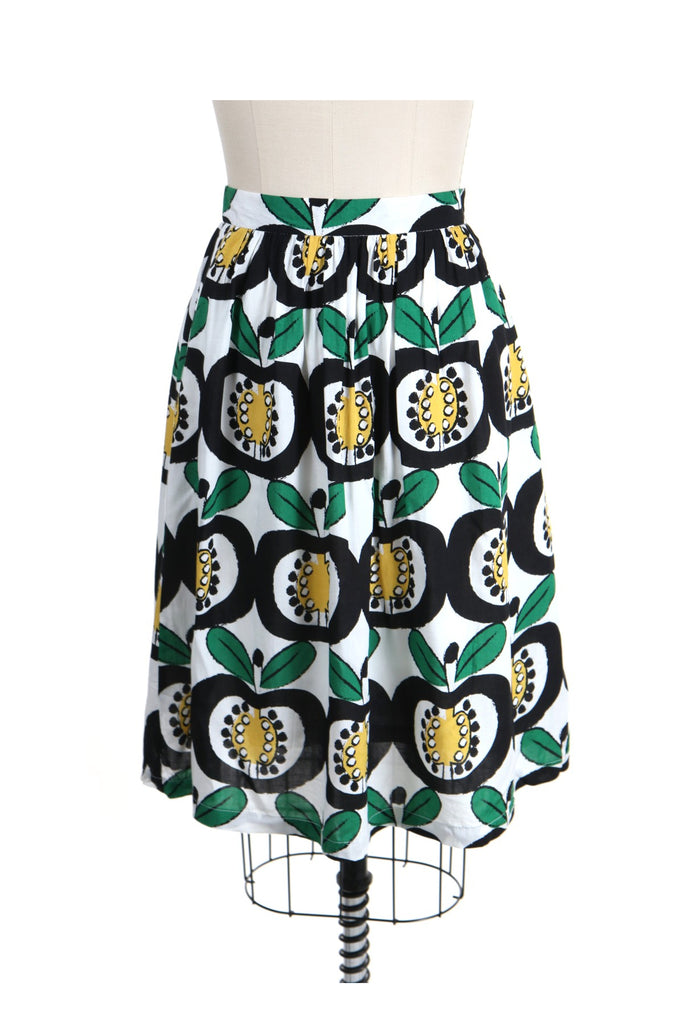 Mod Apple Skirt in Yellow/Black - last size S!