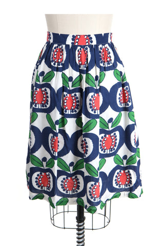 Mod Apple Skirt in Blue/Red - last size S!