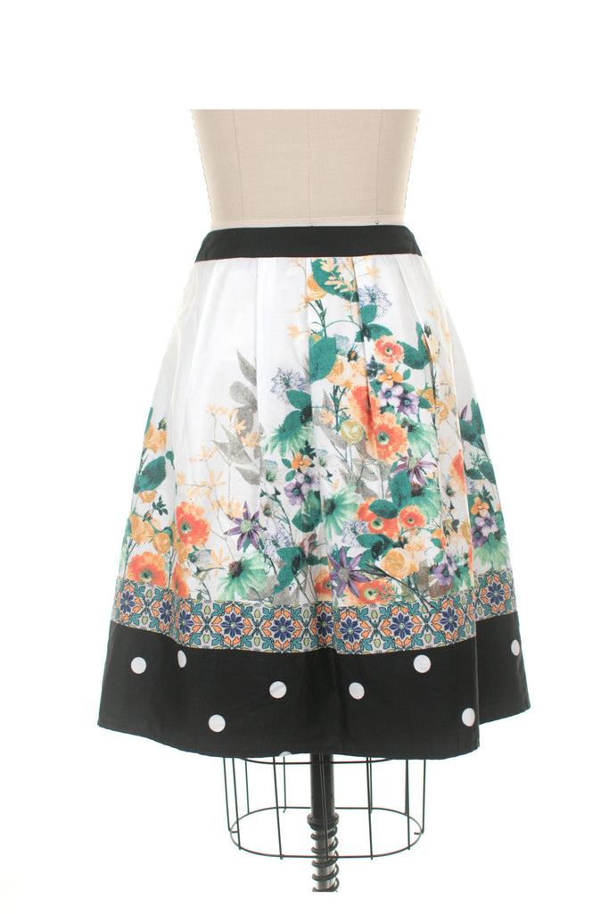 Bailey Skirt in Ivory Multi