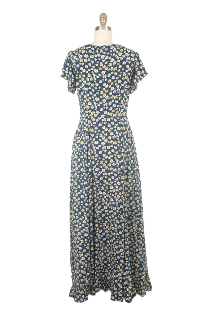 Everlove Flower Dress in Blue/Yellow