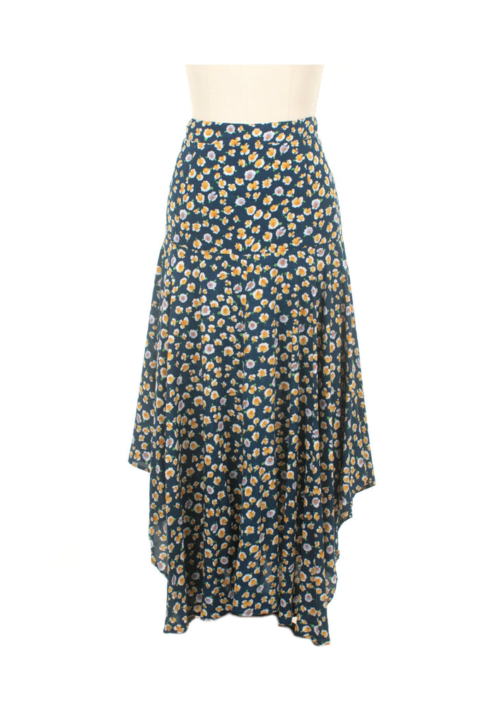 Waterfall Skirt in Blue