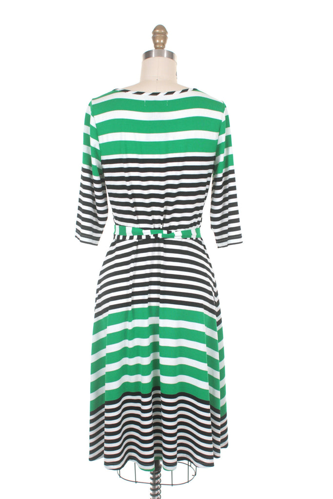 Broad Stripe Dress in Green - last size S!