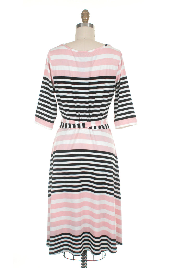 Broad Stripe Dress in Pink - last size S!