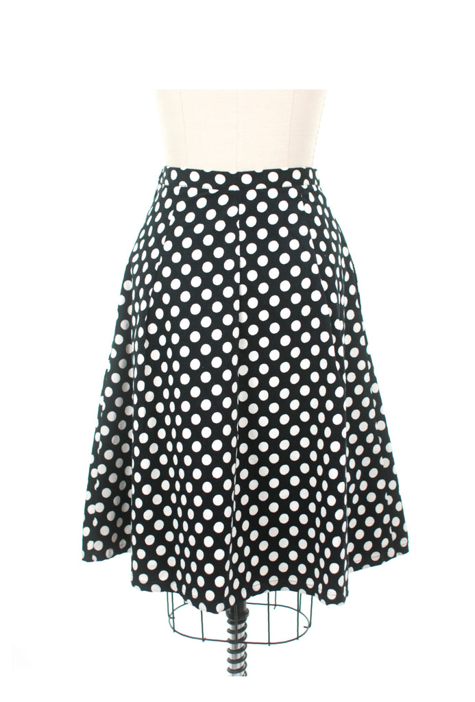 Cord Dot Skirt in Black/White