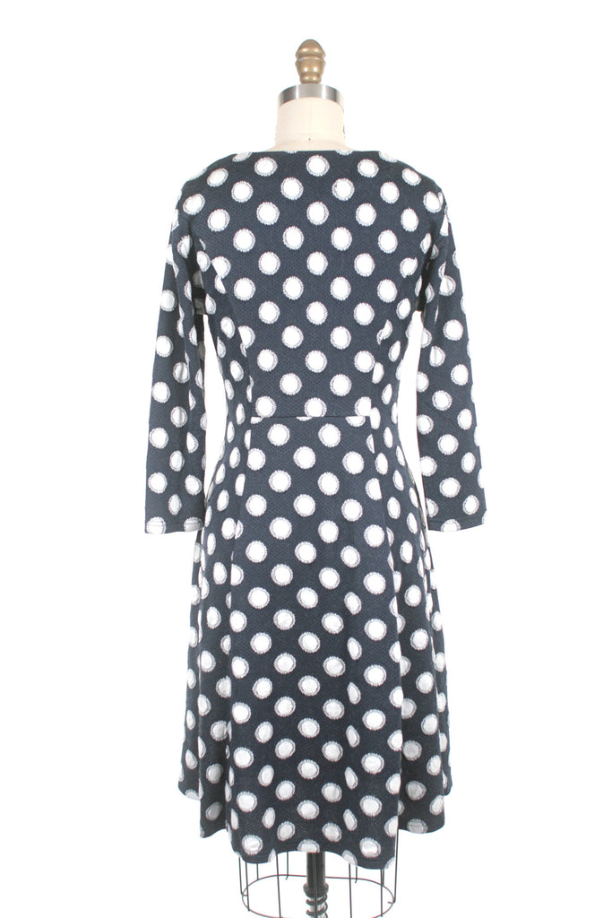 Dot Knit Dress in Navy - Last One!