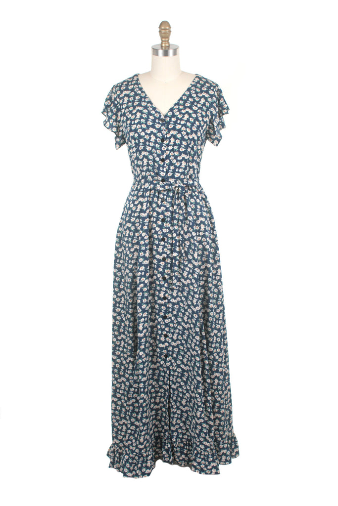 Everlove Flower Dress in Blue/White - last size XS!