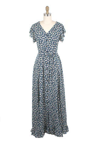 Everlane Flower Dress in Blue/White
