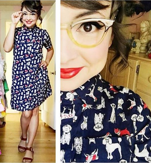 frock shop dog print shirtdress dress navy frockshop