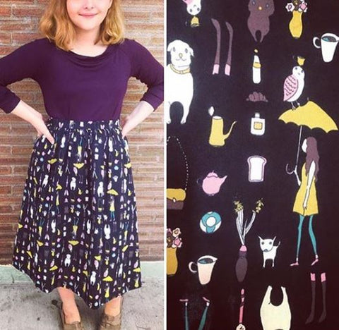 Dog Walking Skirt in Navy - last size S!