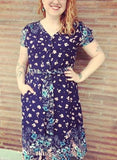 frock shop josie navy flower shirtdress dress frockshop