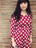 frock shop red polkadot knit dot dress frockshop