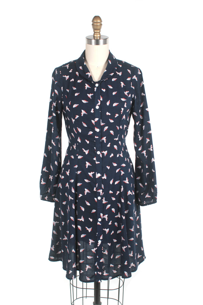 Petal Dress Dress in Navy - last size S!