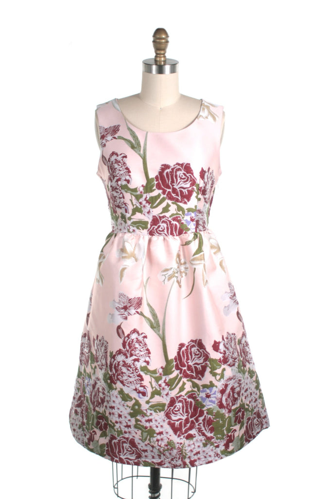 Rose Jacquard Dress in Blush - last size S!