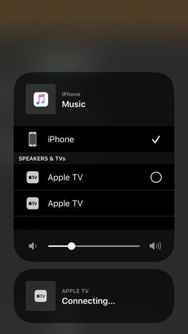 Connect with Wireless Connection using Apple TV App